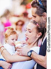 Ice cream baby family