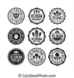 Ice Cream Badge stamps collections