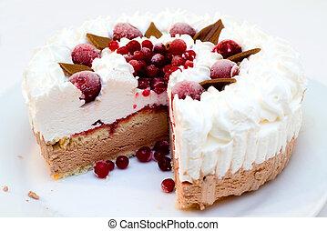 Ice-cream cake - Ice-cream cherry-chocolate cake