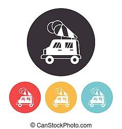 ice cream car icon