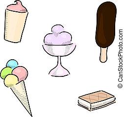 Ice cream - Eps 10 vector ice cream design elements set