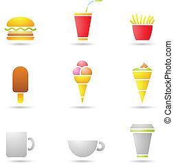 Ice Cream, coffee and Fast Food