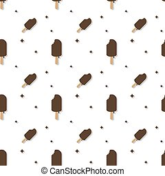 Ice Cream Cold Dessert Seamless Pattern
