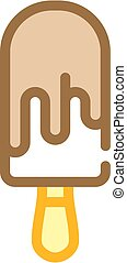 ice cream color icon vector isolated illustration