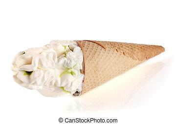 Ice cream cone isolated on white background