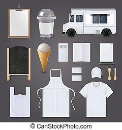 Ice Cream Corporate Identity Blank Set