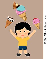Dessert concept about sweet ice cream design, vector illustration 10 eps graphic.