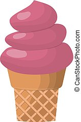 ice cream dessert vector illustration chocolate food sweet...