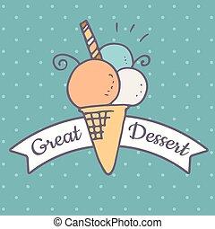 Ice cream doodle icon