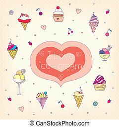 ice-cream - set of various tasty ice-cream. vector...