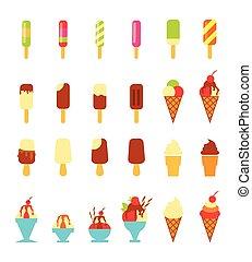 ice cream - vector illustration of collection of ice cream
