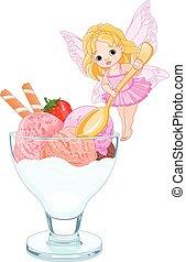 Ice Cream Fairy - Illustration of ice cream fairy