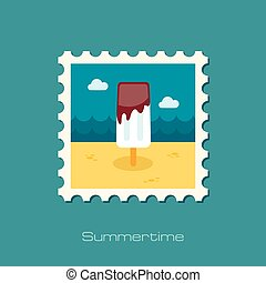 Ice Cream flat stamp