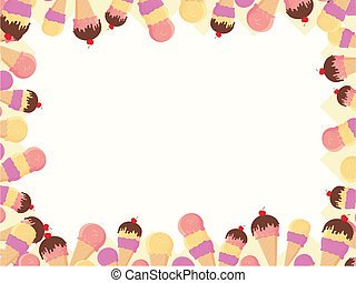 ice cream frame - frame with ice cream in vector format very...