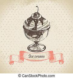 Ice cream, hand drawn illustration