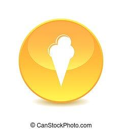 ice cream ,ice cream icon on the background , vector