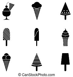 ice cream icon set