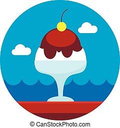 Ice Cream icon. Summer. Vacation