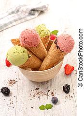 ice cream in cone