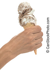 Ice Cream in Hand Cutout