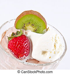 Ice cream in the glass