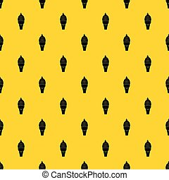 Ice cream in waffle cone pattern vector