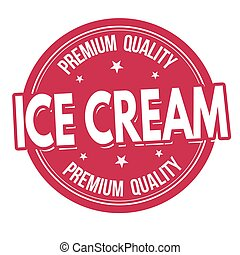 Ice cream label or stamp