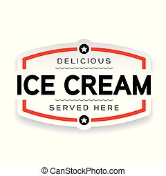 Ice Cream label sign vintage
