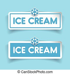 Ice Cream label vector