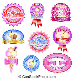Ice Cream Labels - Traditional and finest quality ice cream...