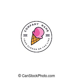 ice cream logo design vector