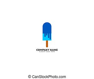 Ice cream logo vector illustration