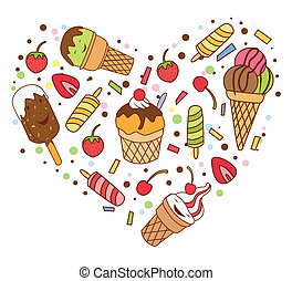 Ice Cream Love Banner