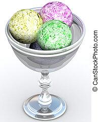 ice cream, mísa, 3