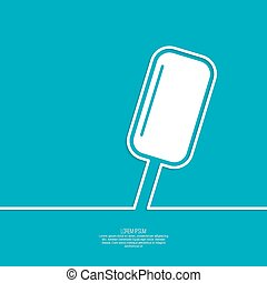 Ice cream on a stick
