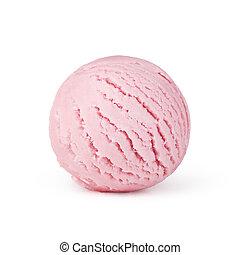 ice cream on white background