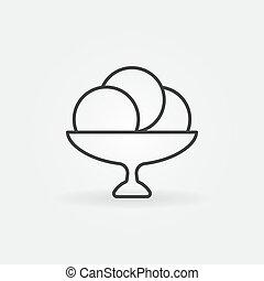 Ice cream outline vector icon