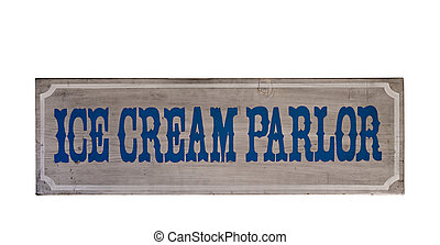 Ice cream parlor sign - Wooden ice cream parlor sign...