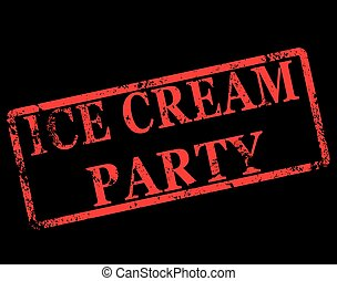 ice cream party stamp