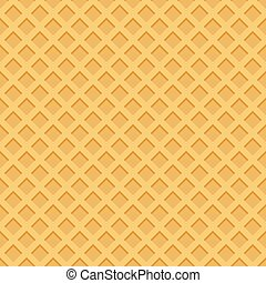 Ice cream pattern wafle texture vector illustration.