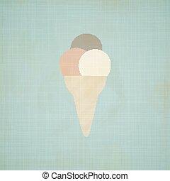 Ice Cream retro background.