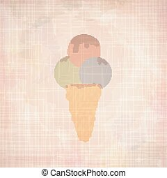Ice Cream retro background.
