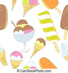 Ice cream seamless pattern