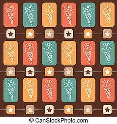 Ice-cream seamless  pattern