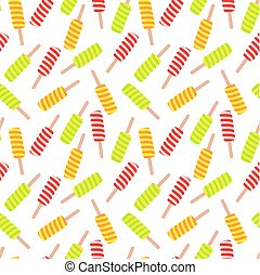 Ice cream seamless pattern. Vector illustration.