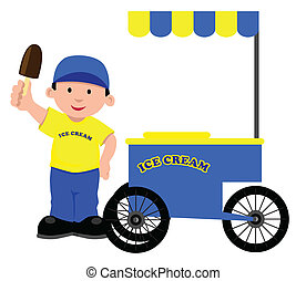 Ice Cream Seller - Stock vector of an ice cream seller
