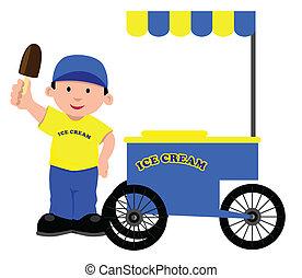Ice Cream Seller - Stock vector of an ice cream seller