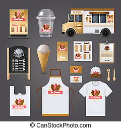 Ice Cream Selling Design Set