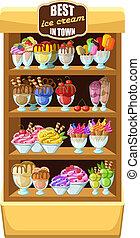 Ice cream shop, - Picture of a ice cream shop,
