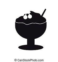Ice cream silhouette